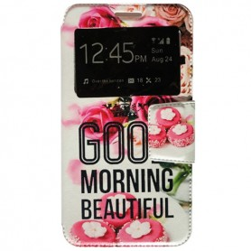 Capa Flip Janela Good Morning One Touch Pixi 4 (5) 4G / Smart Turbo 7