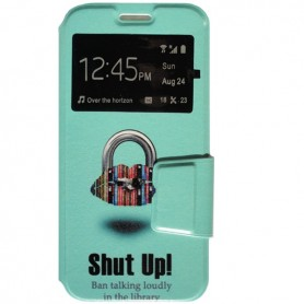 Capa Flip Janela Shut Up Galaxy A3 2017