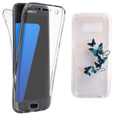 Capa Gel 2 Lados Borboletas Galaxy S8