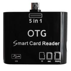 Leitor Cartões / USB OTG 5 em 1