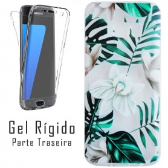 Capa Gel 2 Lados Flores Galaxy S8