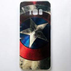 Capa Gel Capitão América Galaxy S8 Plus