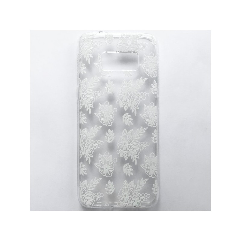Capa Gel Flores Galaxy S8 Plus