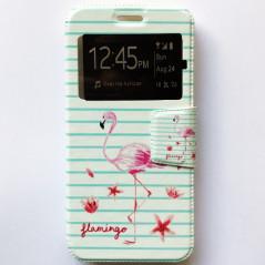 Capa Flip Janela Flamingo Smart V8