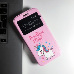 Capa Flip Janela Unicórnio Samsung Galaxy A40