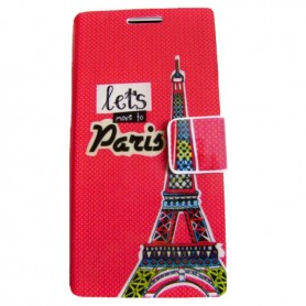 Capa Flip Paris Aquaris E6