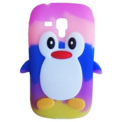 Capa Pingu Arco-íris Galaxy S Duos / 2 / Trend / Plus