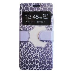 Capa Flip Leopardo Galaxy Core Plus