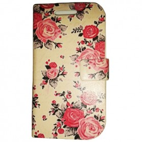 Capa Flip Flores Smart Mini / One Touch T'Pop