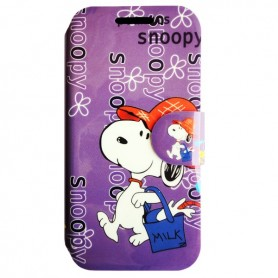 Capa Flip Snoopy Galaxy S4 Mini