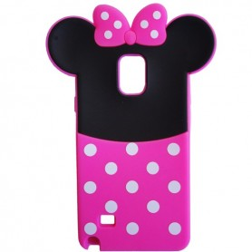 Capa Silicone Minnie 2 Galaxy Note 4