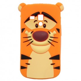Capa Silicone Tigre Pooh Galaxy S Duos / 2 / Trend / Plus