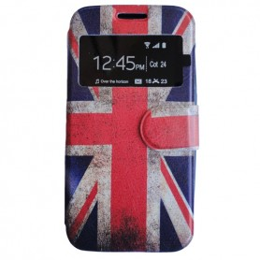 Capa Flip Janela Reino Unido Galaxy Ace Style