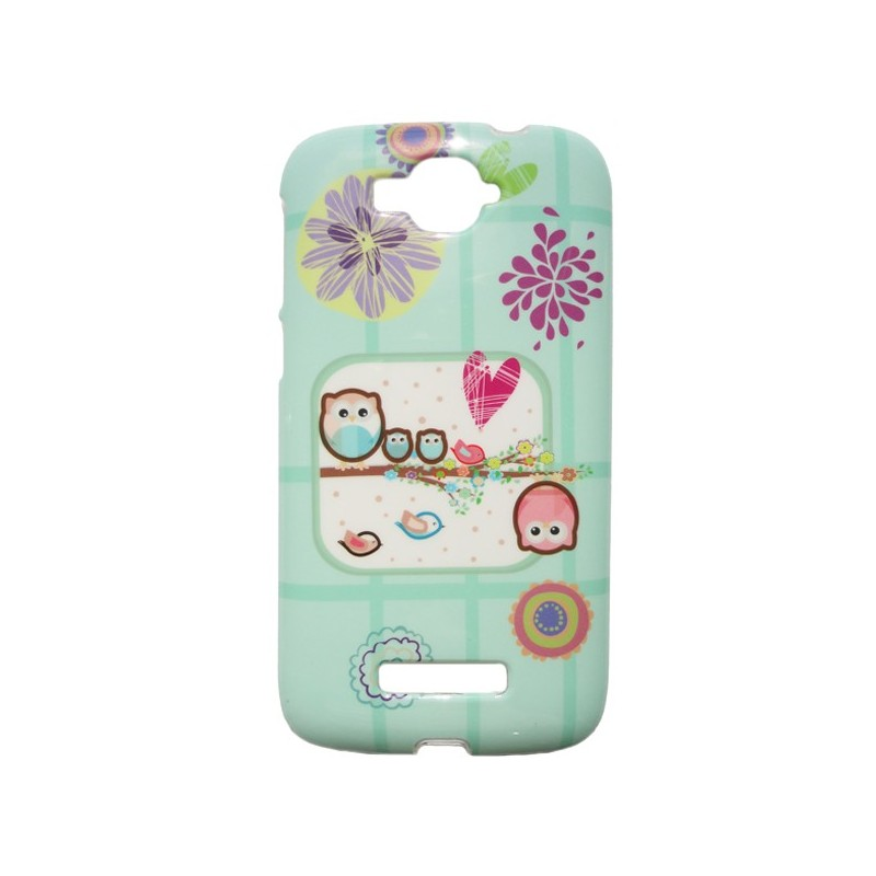 Capa Gel Corujas One Touch Pop C7