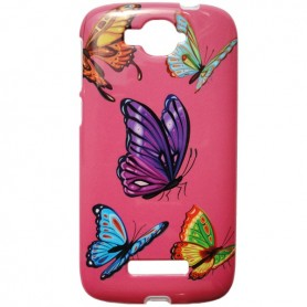 Capa Gel Borboleta One Touch Pop C7