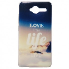 Capa Gel Love the Life Smart A80