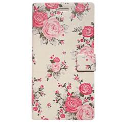 Capa Flip Flores Xperia M2