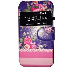 Capa Flip Janela Flores Galaxy S Duos / 2 / Trend / Plus