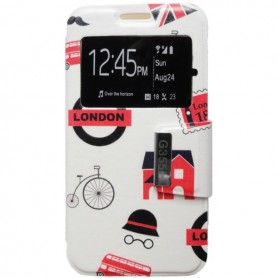 Capa Flip Janela London Galaxy Core 2