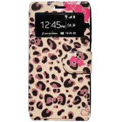 Capa Flip Janela Leo Kitty Galaxy Ace 4 / Trend 2 / Lite / LTE / Duos / V Plus / S Duos 3