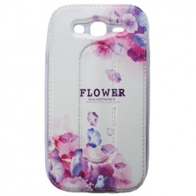 Capa Gel Patilha Flores Galaxy Grand / Neo / Duos / Plus