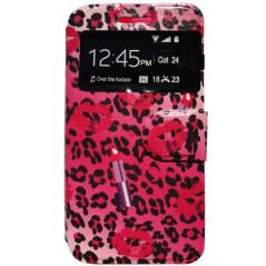 Capa Flip Janela Leopardo Galaxy Fresh / Trend Lite / Duos