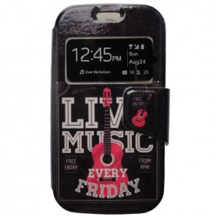 Capa Flip Janela Music Galaxy S Duos / 2 / Trend / Plus