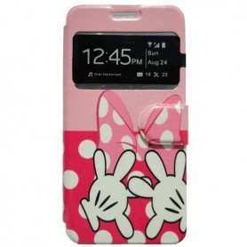 Capa Flip Janela Minnie Galaxy Grand Prime