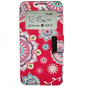 Capa Flip Janela Flores 2 One Touch Pop 3 5'' / Smart Grand 6