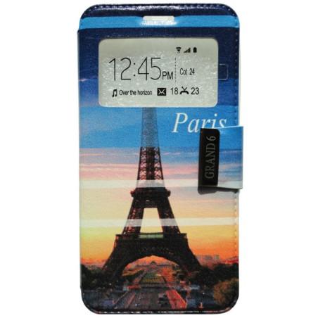 Capa Flip Janela Paris One Touch Pop 3 5'' / Smart Grand 6