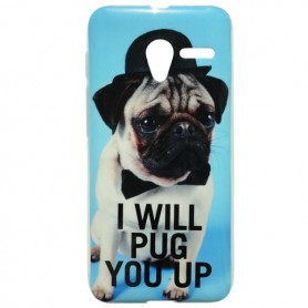 Capa Gel Pug One Touch Pixi 3 4.5
