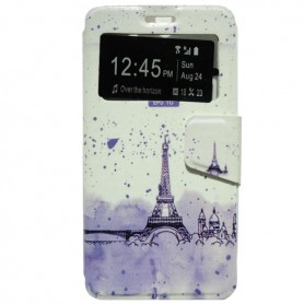 Capa Flip Janela Eiffel One Touch Pop 3 5'' / Smart Grand 6