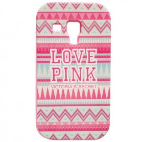 Capa Silicone Love Pink Galaxy S Duos / 2 / Trend / Plus