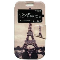 Capa Flip Janela Eiffel Galaxy Core Plus