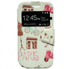 Capa Flip Janela Paris Galaxy Core Plus