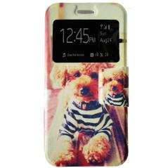 Capa Flip Janela Dog Galaxy S7 Edge