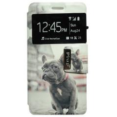 Capa Flip Janela Bulldog Francês Pulp / 4G