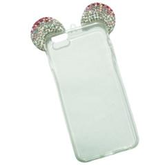 Capa Gel Orelhas Brilhantes iPhone 6 Plus / 6s Plus