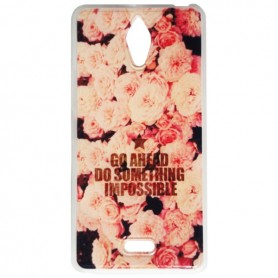 Capa Gel Flores One Touch Pixi 4 (6)