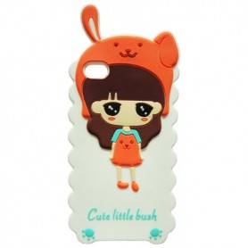 Capa Silicone Cute Little Bush iPhone 4 / 4s