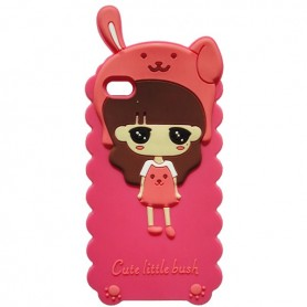 Capa Silicone Cute Little Bush Galaxy S Duos / 2 / Trend / Plus
