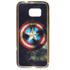 Capa Gel Capitão América Galaxy S7 Edge