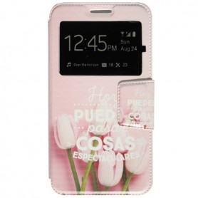Capa Flip Janela Flores One Touch Pixi 4 (5) / Smart Turbo 7