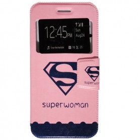 Capa Flip Janela Super Woman iPhone 7 Plus