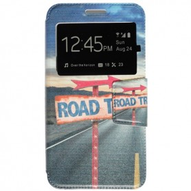 Capa Flip Janela Road Trip One Touch Pixi 4 (5) 3G