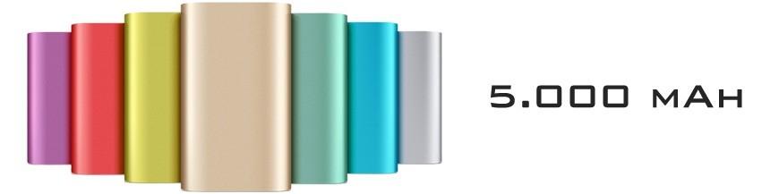 Baterias Externas / Power Banks com capacidade de 5000 mAh