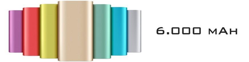 Baterias Externas / Power Bank com capacidade de 6.000 mAh